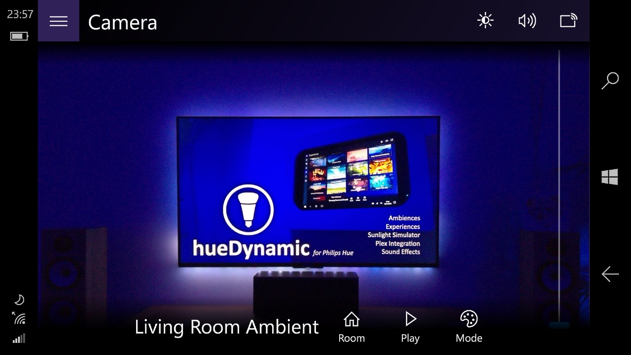 Just added Hue camera sync to hueDynamic  Point your device at the